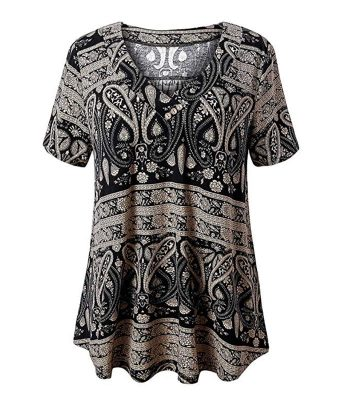 Women Short Sleeve Tunic Tops