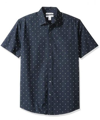Men Short-Sleeve Stylish Print Shirt