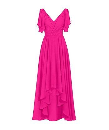 Floral Mother Of The Bride Dresses Hot Pink_bestfashionhouse.com