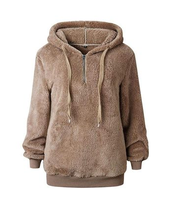 fuzzy sweater pullover hoodies